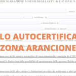Self-certification of the orange zone of Campania – Obtain Below