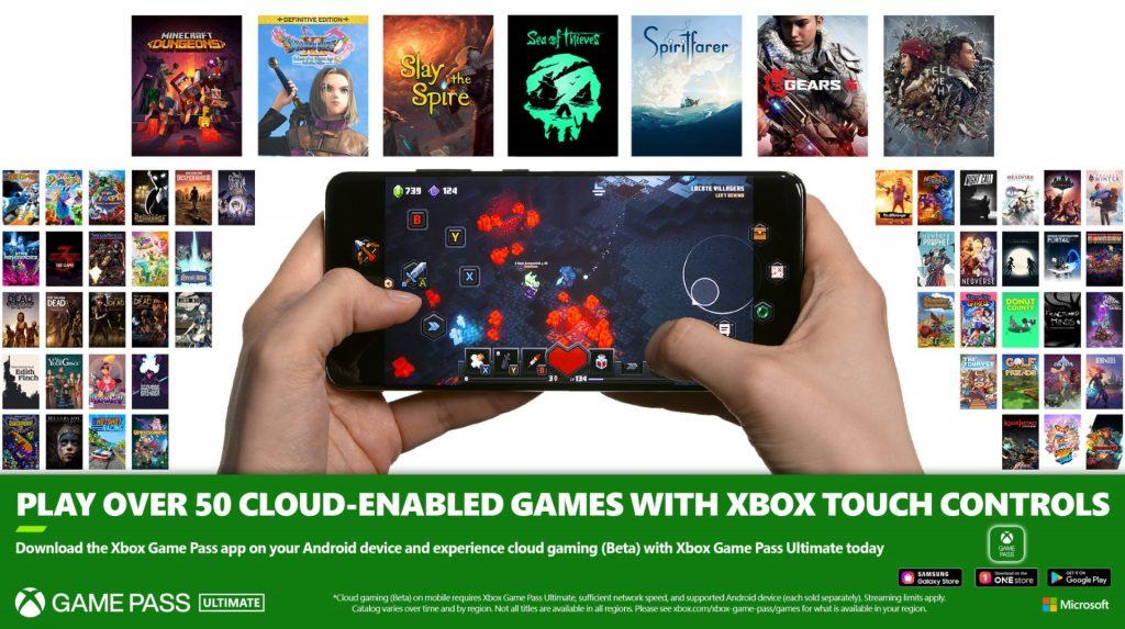 Xbox Game Pass, ora più di 50 giochi supportano i controlli touch su cloud da mobile