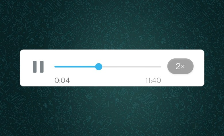 WhatsApp now allows you to speed up voice messages