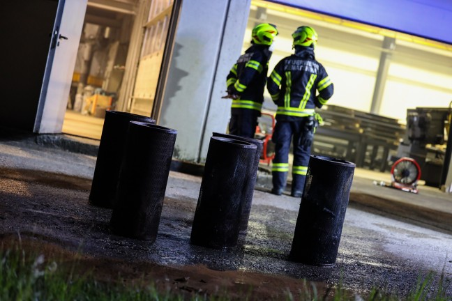 Fire in an extraction system of a steel construction company in Neuhofen an der Krems