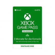 Xbox Game Pass for Xbox for 3 months with over 100 games, blockbusters and new exclusive titles.