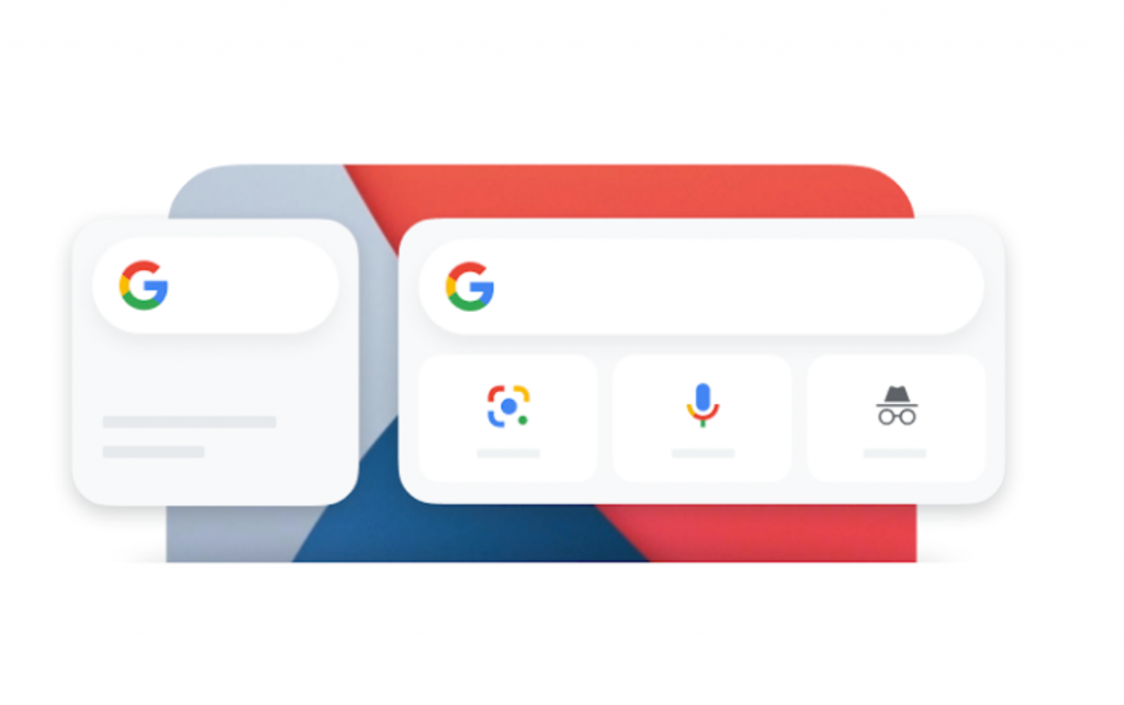 Chrome widgets available on iPhone