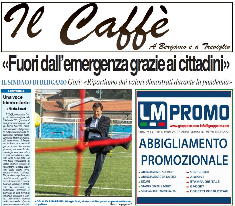 Coffee, a strong and free voice for all.  Download your free copy here «Bergamo e Sport
