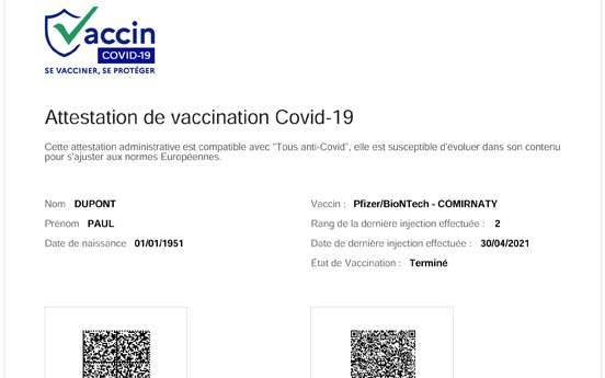 Covid: the teleservice to download your vaccination certificate experienced in the Atlantic Pyrenees