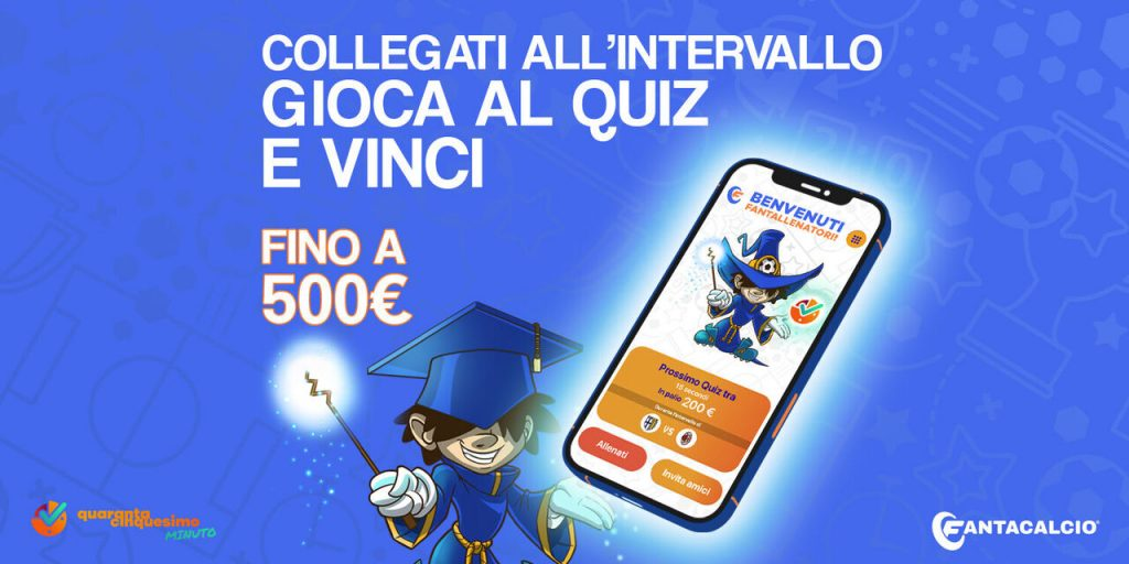 Play the 45 minute quiz!  Today 500 euros are at stake