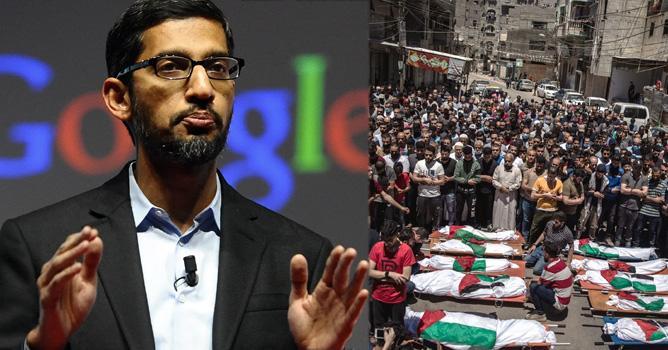 Google should condemn the Israeli attacks on Palestine;  Jewish Google Employees Send Letter to Sundar Pichai