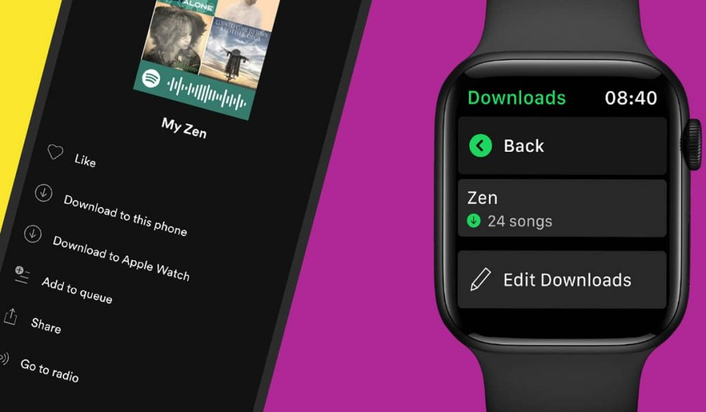 Now you can download music on Spotify for Apple Watch!