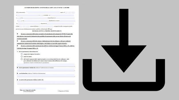 autocertificazione, coronavirus, Sicilia, Cronaca