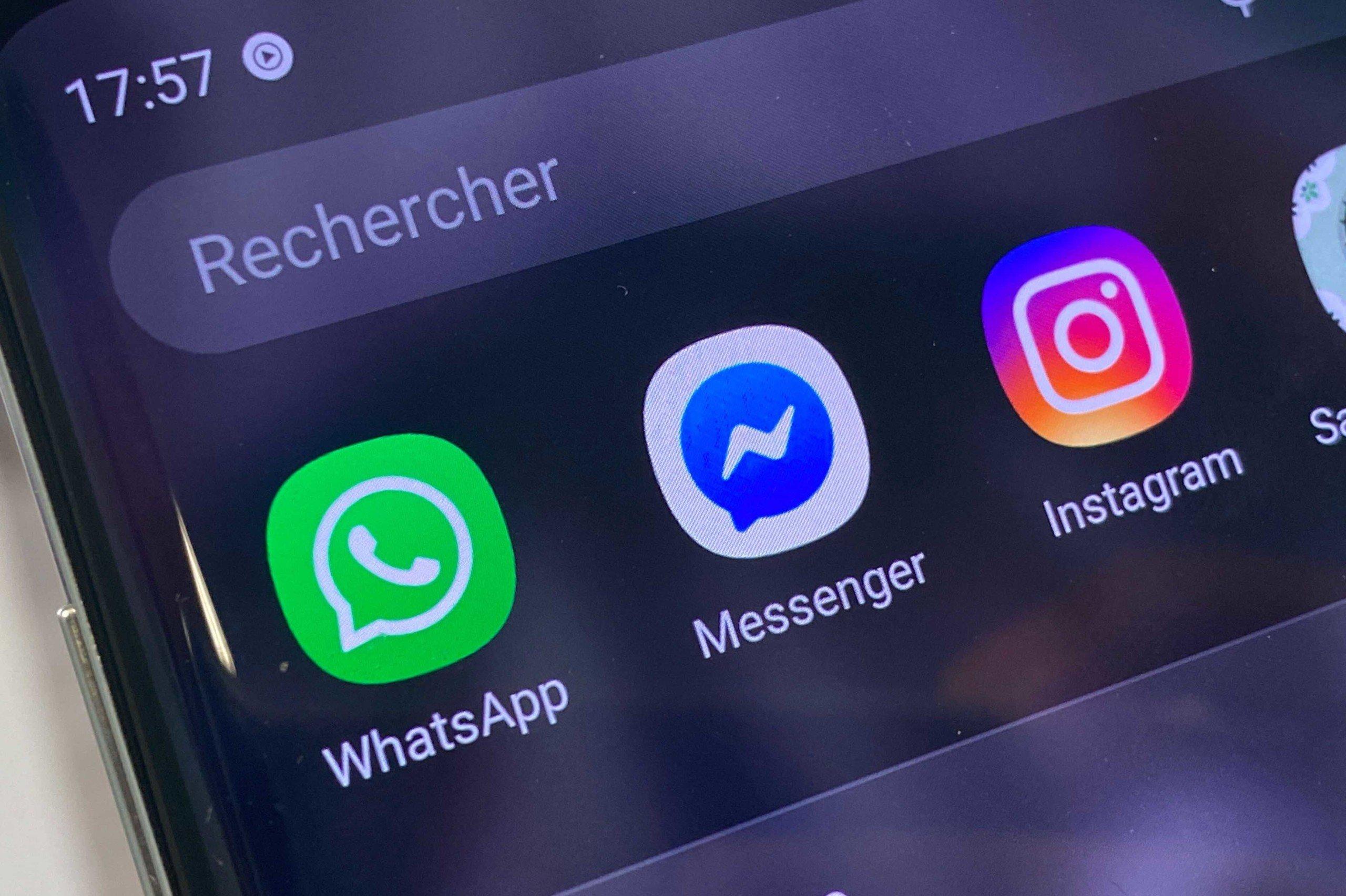 WhatsApp, Messenger and Instagram