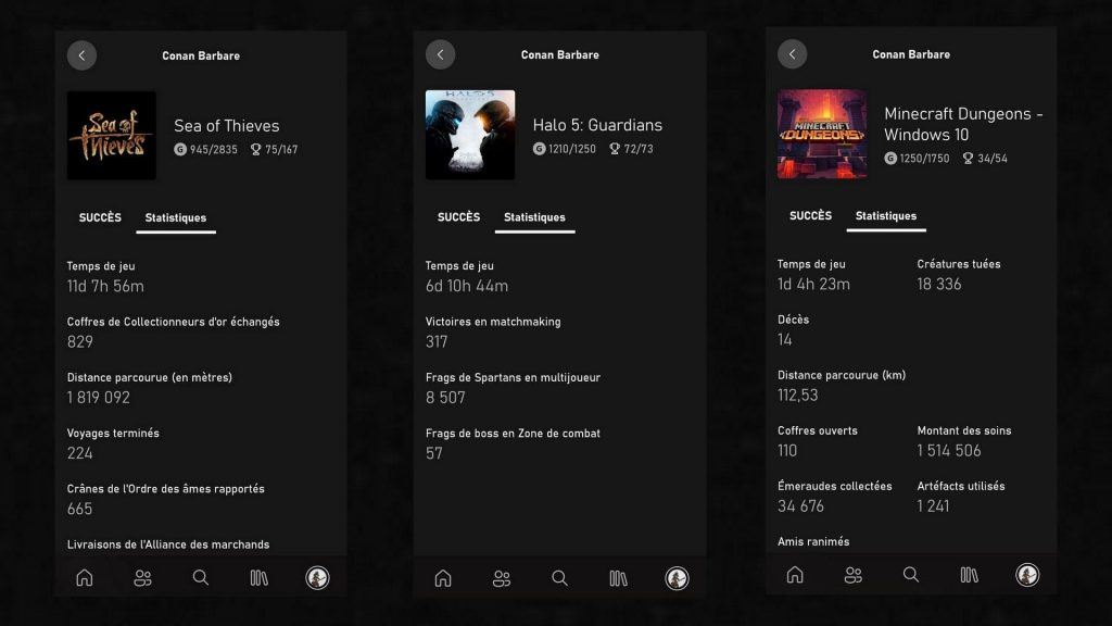 Xbox mobile app: after the successes, the statistics available in beta!  |  Xbox one