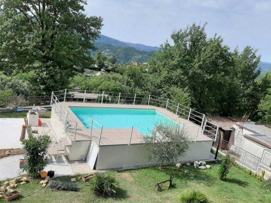 Pools prepared for Aquilani