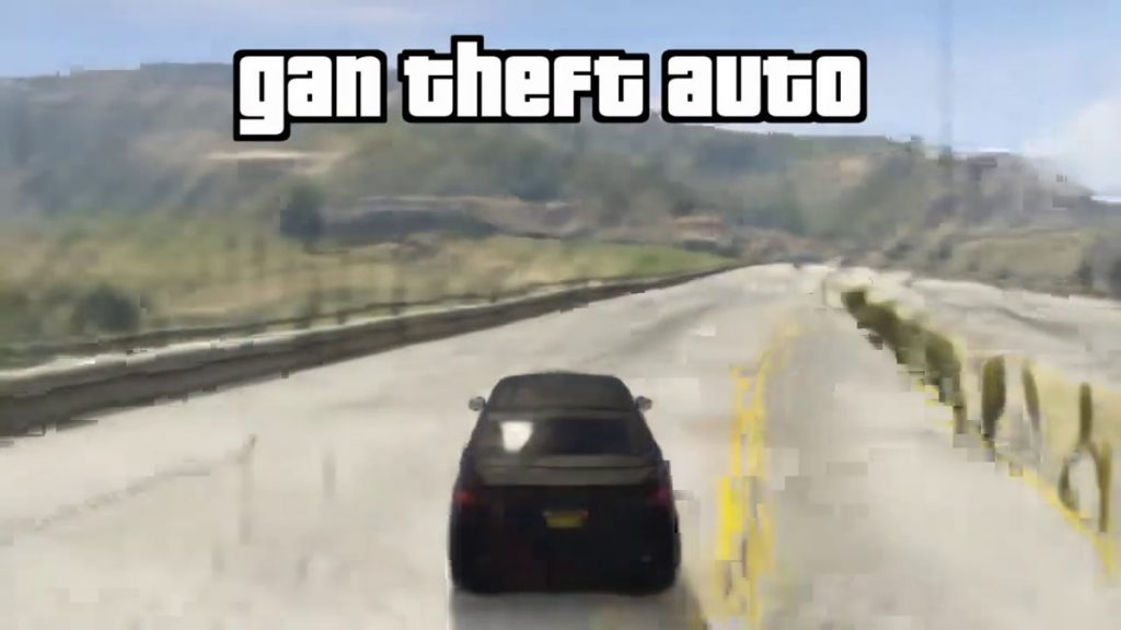 """An AI appears that plays """"Grand Theft Auto V"""" without a game engine.  Reflections and shadows are also reproduced, but there are two police cars 