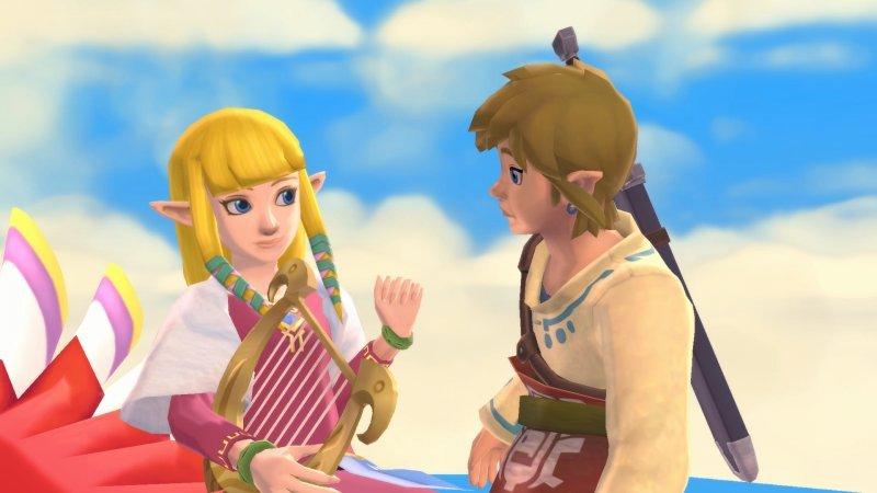 The Legend of Zelda: Skyward Sword HD, Link and Zelda.