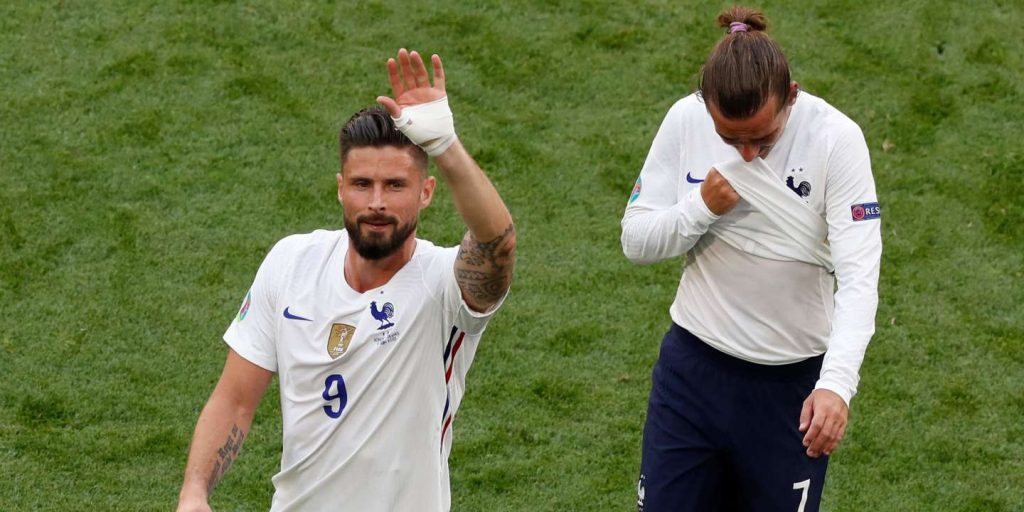 France qualified without playing for the round of 16