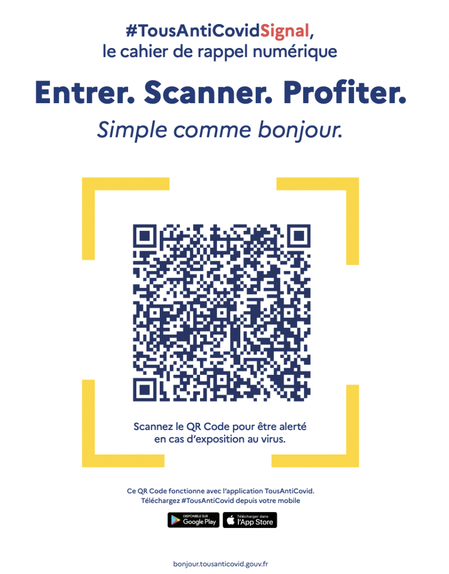 Example of a QR code that will be found in restaurants on June 9
