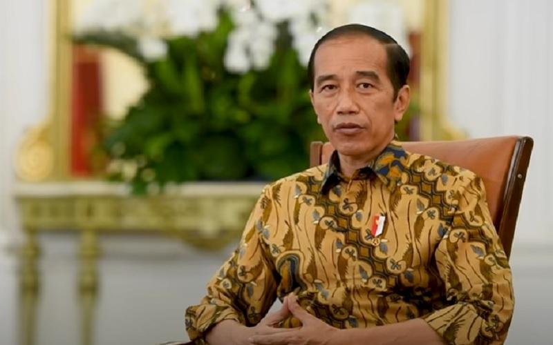 Presiden Joko Widodo memberikan pernyataan resmi terkait pemberhentian 75 pegawai KPK yang tidak lolos tes wawasan kebangsaan (TWK), Senin (17/5/2021)  -  Youtube Sekretariat Presiden RI