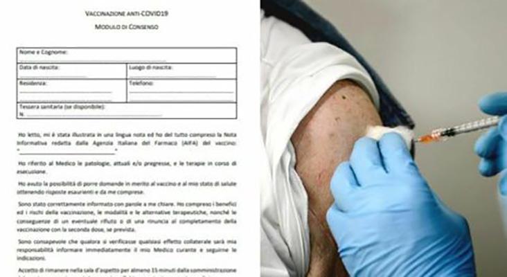 Vaccines: Prociv, AstraZeneca withdraws with informed consent.  (Download the form) - InfoOggi.it