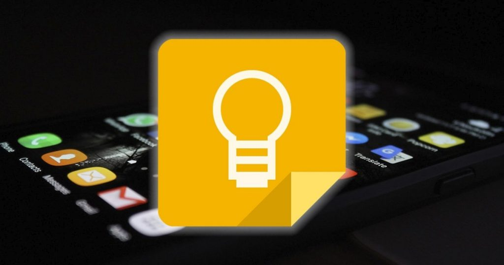 Where are the Google Keep files stored?