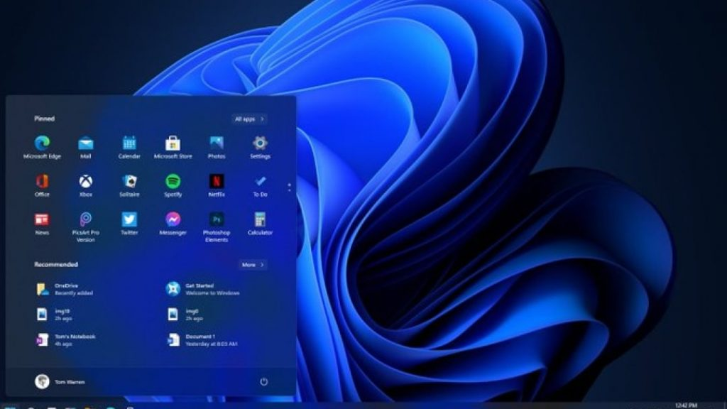 Windows 11 version leaked;  New user interface, Start menu and drastic changes