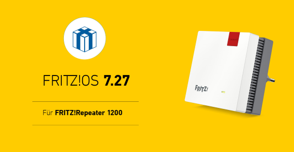 AVM publishes FRITZ!  OS 7.27 for FRITZ!  Repeater 1200