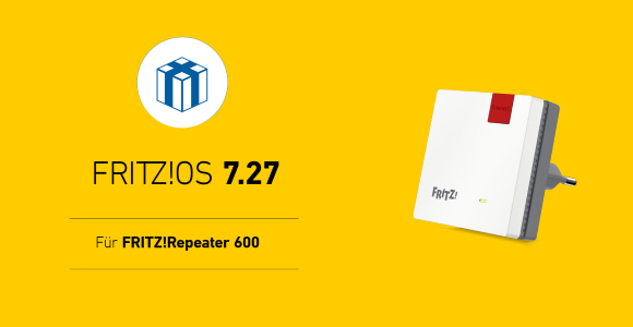 AVM publishes FRITZ!  OS 7.27 for FRITZ!  Repeater 600