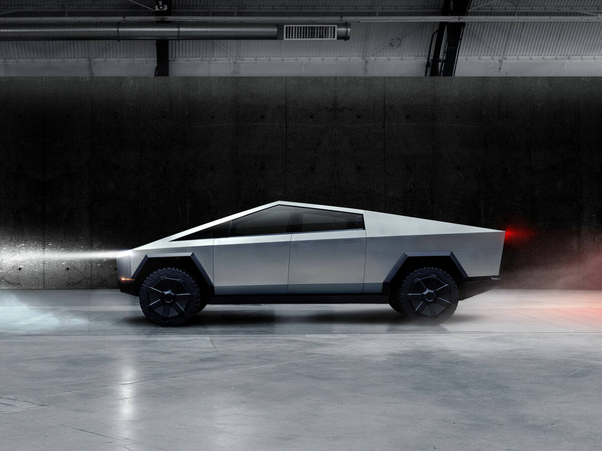 """Photo: Tesla Cybertruck will have a """"crab mode"""".  (Reuters)"""