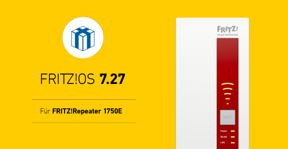 AVM publishes FRITZ!  OS 7.27 for FRITZ!  Repeater 1750E