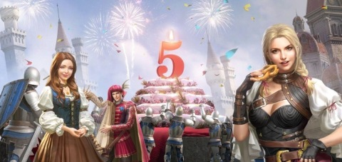 King of Avalon celebrates its 5th anniversary with major game and event updates in July (Graphic: Business Wire)