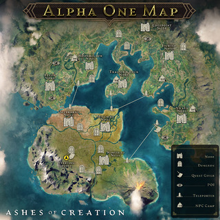 Ashes of Creation Alpha One Map