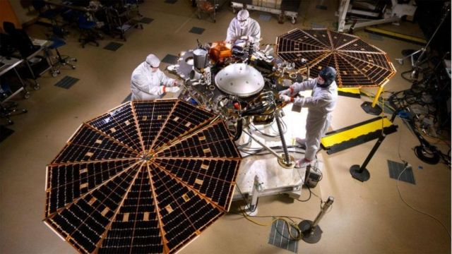 The InSight probe was launched to Mars in 2018 and landed in November of the same year.