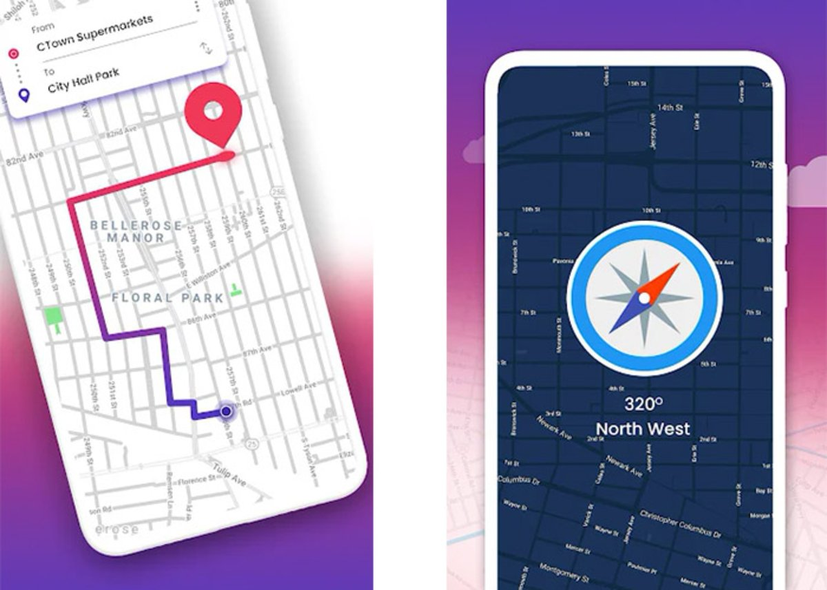 GPS, maps, routes and traffic in real time