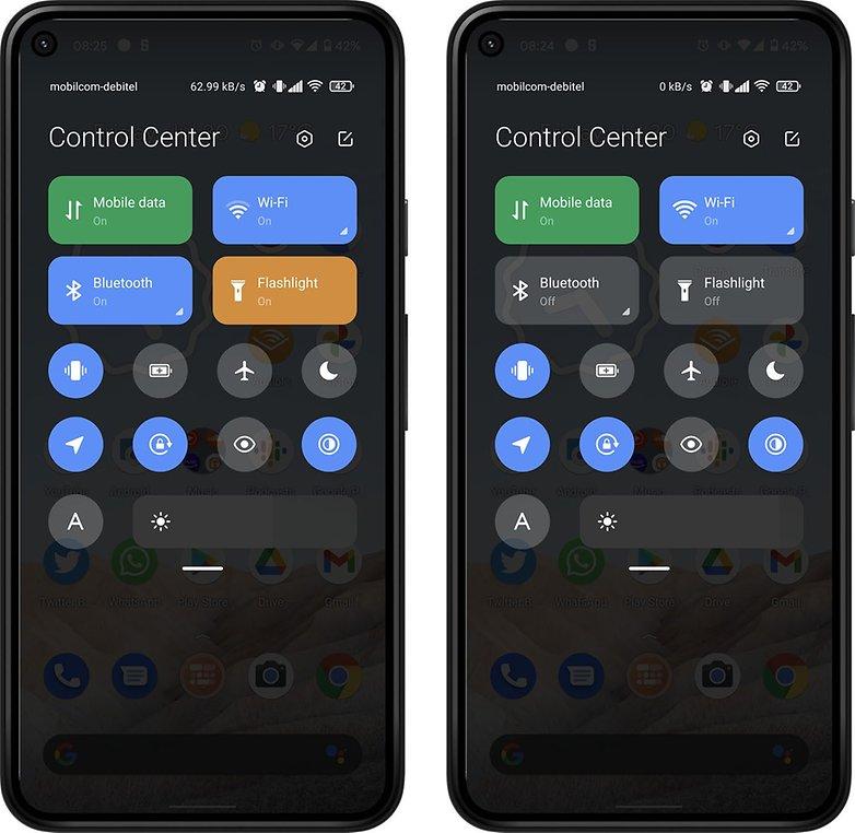 Control Center Android 12 mi