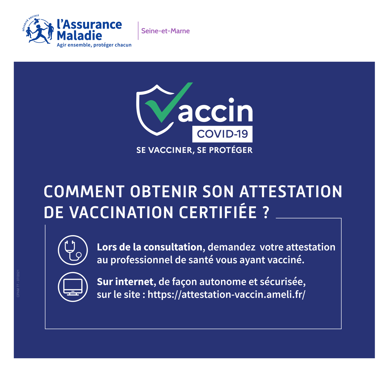 How to obtain a certified vaccination certificate?