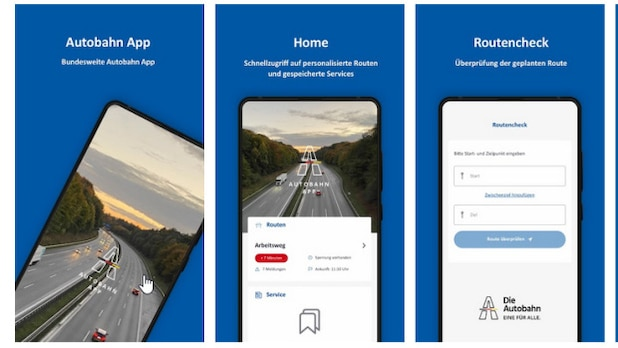 The Autobahn app provides reports on roadworks and closures.