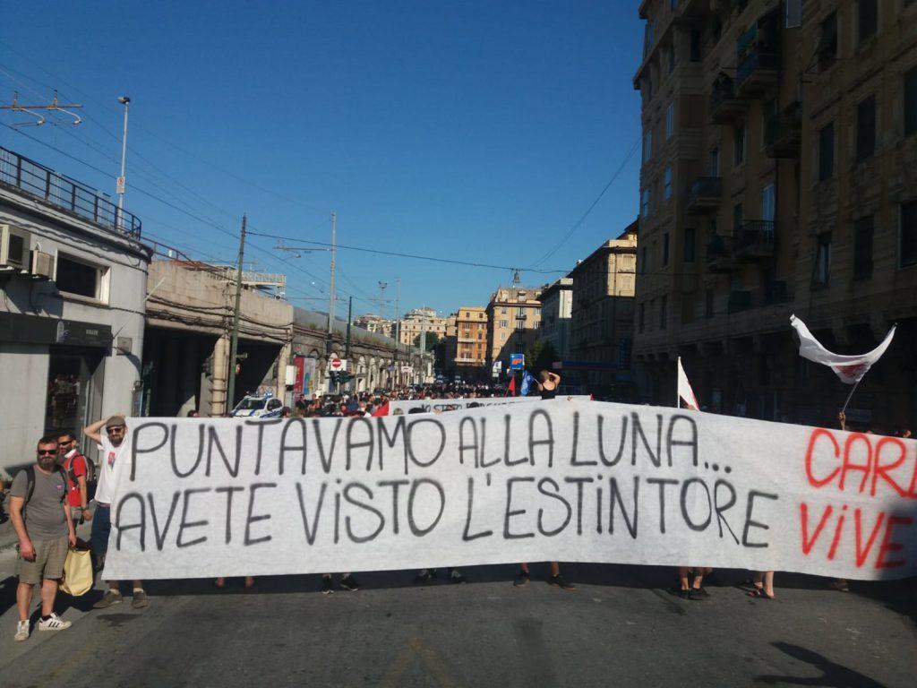 LIVE AND VOICES FROM THE COMMEMORATION OF CARLO GIULIANI IN PIAZZA ALIMONDA - Radio Onda d`Urto