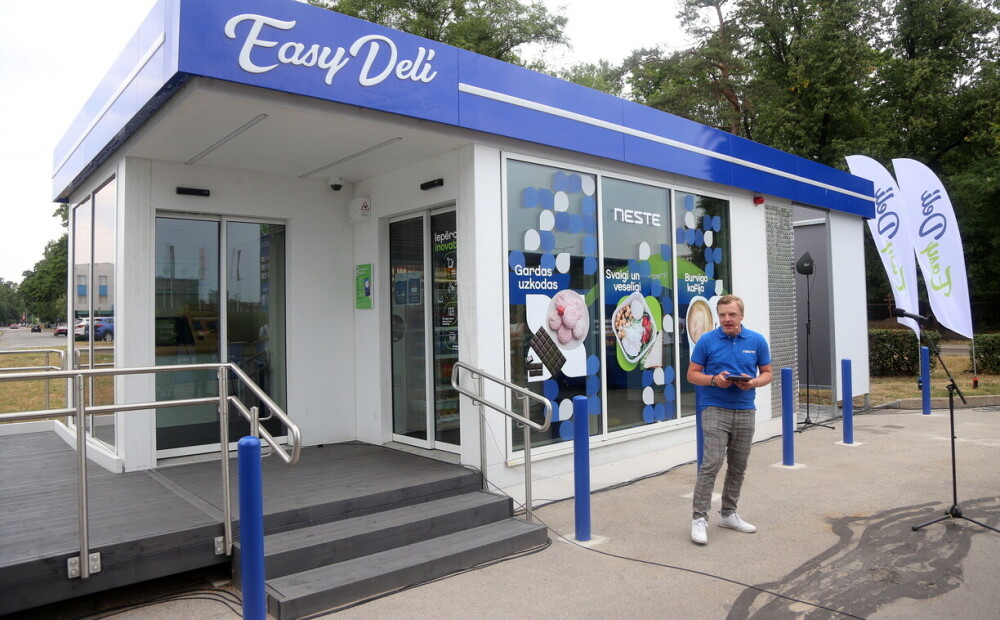 """PHOTO: shop without cashier - Neste Latvija """"opens the first self-service store in Riga"""