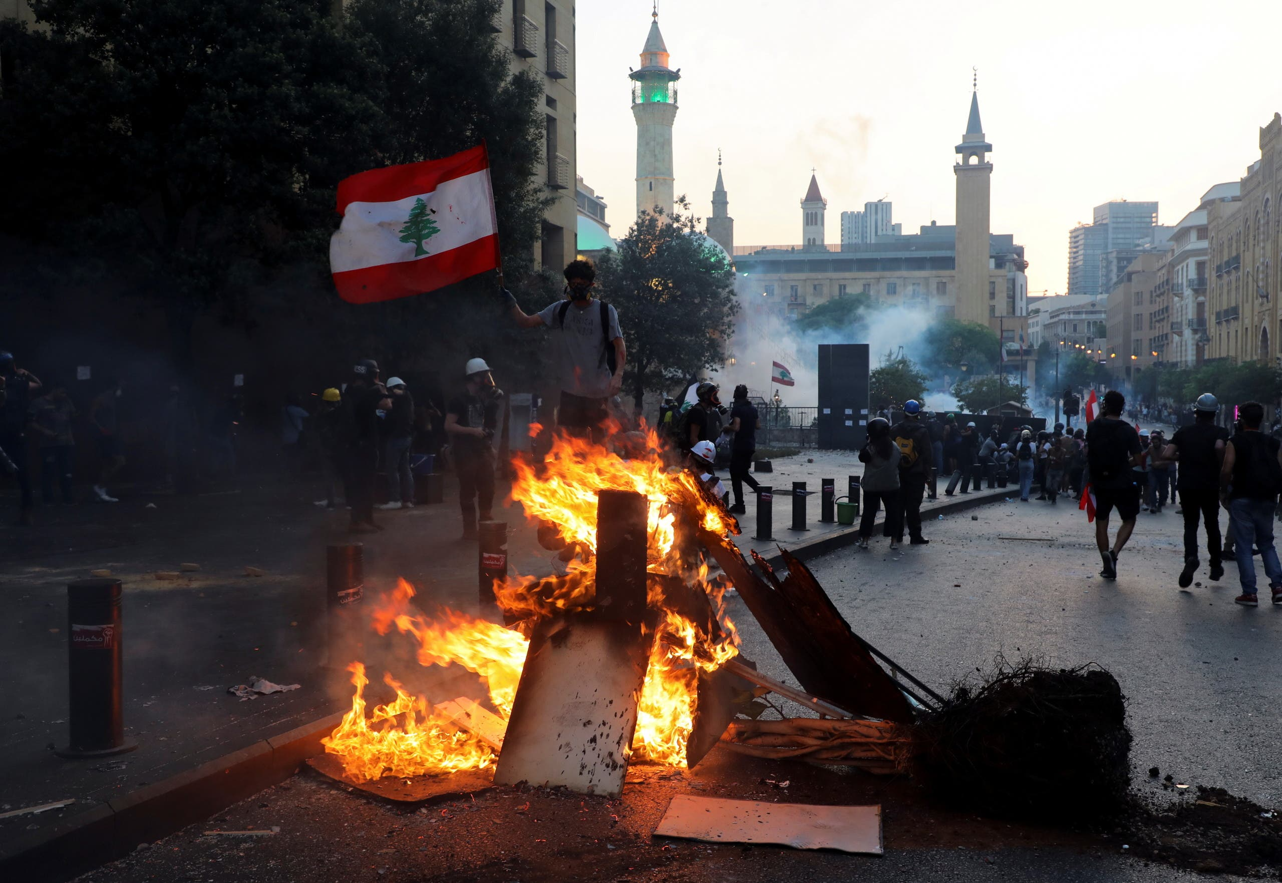 From today's protests in Beirut