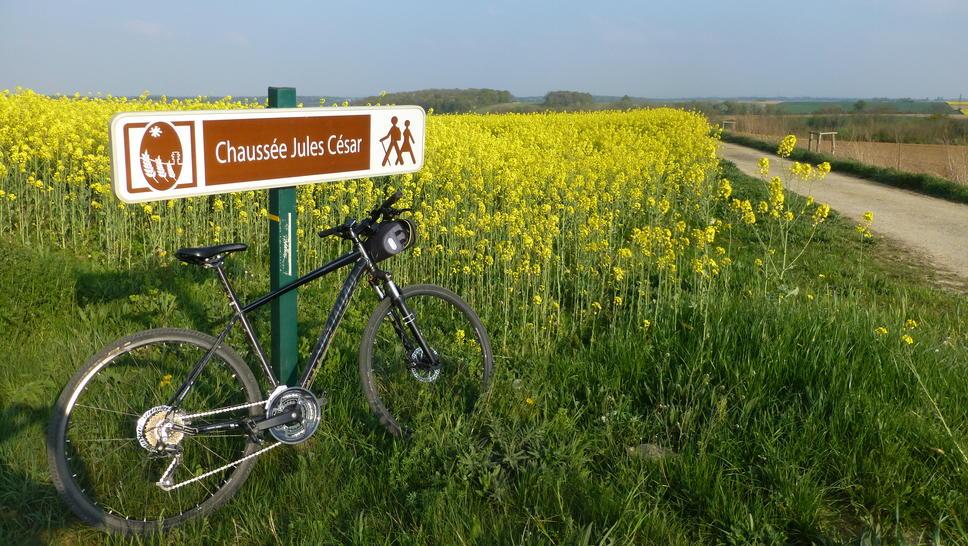 by bike, climb the Gallo-Romans on the Vexin