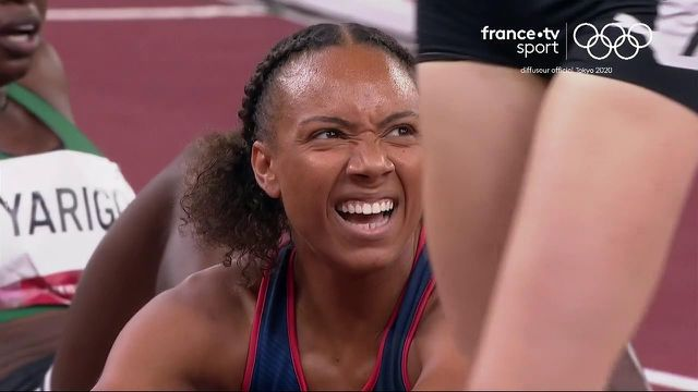 French Rénelle Lamotte will not go to the final.  Fifth in her semifinal at 1.59.40 she was eliminated.  A race dominated by American Athing Mu on 1.58.07.