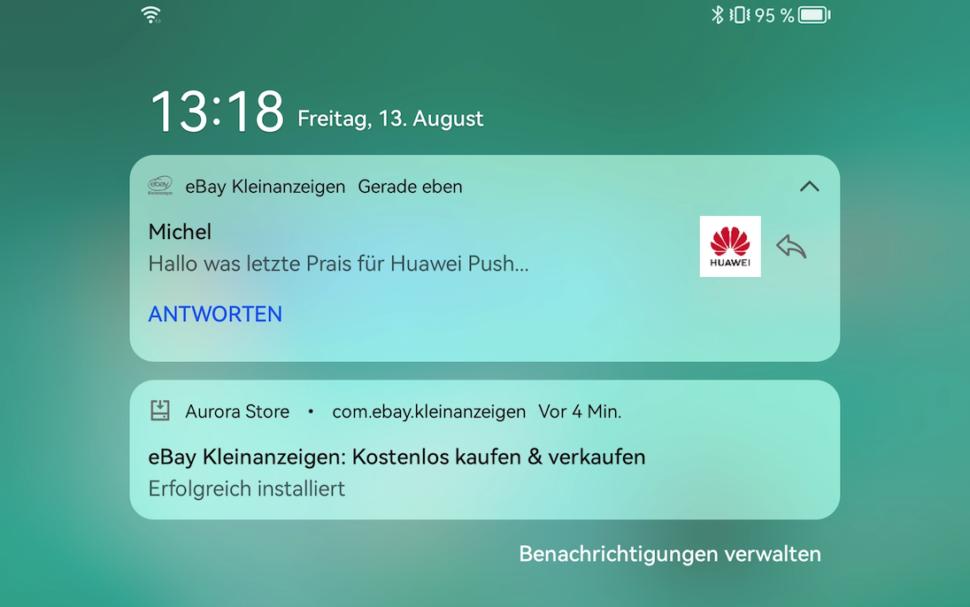 What latze Prai for Huawei Push