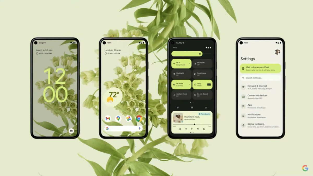 New Material You Design for Android 12