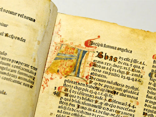 Chivasso, feast of the patron saint Blessed Angelo Carletti: discovering the incunabula in the library of Palazzo Cisterna