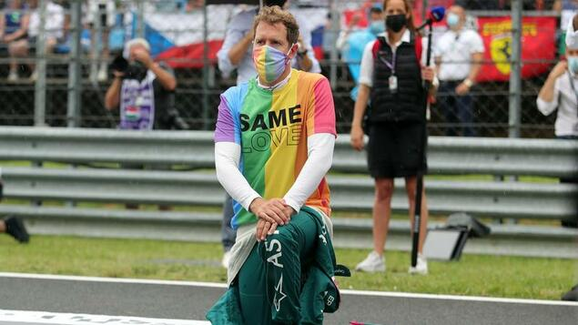 For the rainbow jersey: Sebastian Vettel is warned by the race direction - sport