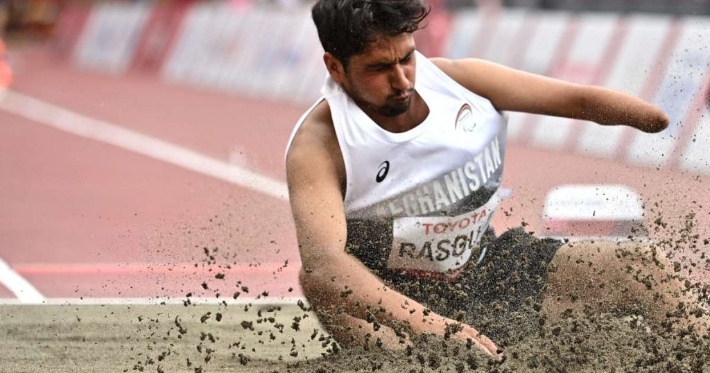 For the record, Afghan athlete Hossain Rasouli was able to line up in the final of the Paralympic Games.