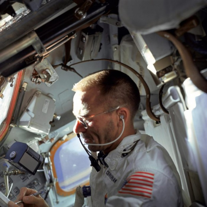 NASA astronaut Walter Cunningham writes with the Fisher space pencil 777x777.jpg