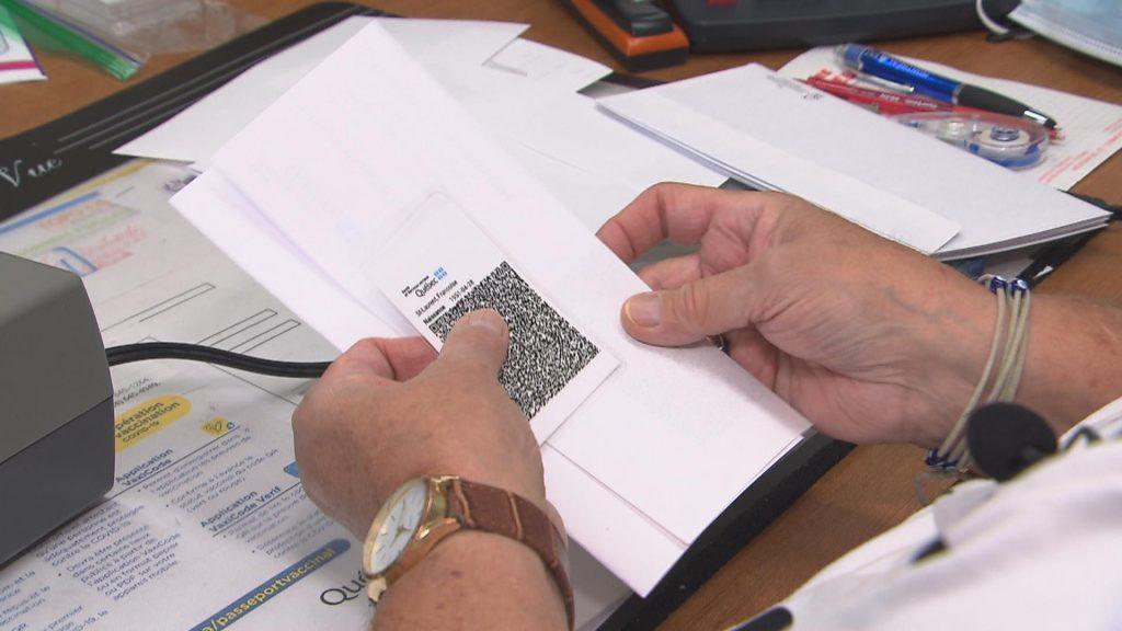 The CISSS de l'Abitibi-Témiscamingue offers to print the QR code for the vaccine test