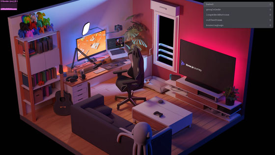 """""""My Room in 3D"""" that reproduces a 3DCG room that moves beautifully on the web with a combination of WebGL x Three.js --GIGAZINE"""