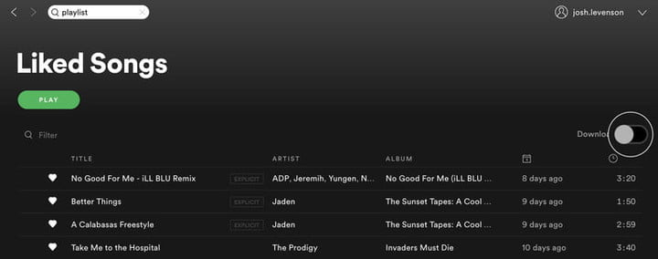 How to download songs from Spotify