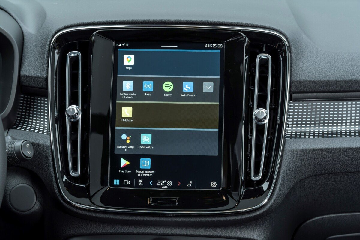 The new Android Automotive system built into the new Volvo.