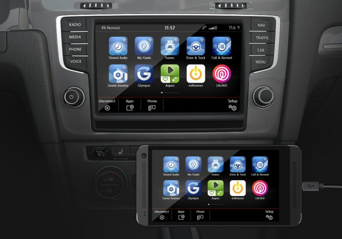 The beginnings of Android Auto in 2015.